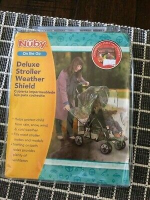 Nuby One the Go Deluxe Stroller Weather Shield NEW