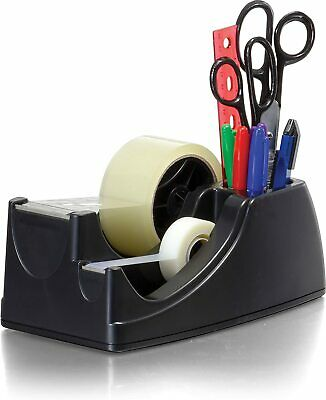 Heavy Duty 2 in 1 Tape Dispenser Packing Desktop With Rubber Feet For Office