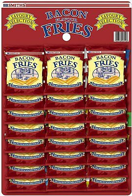 Smiths Savoury Snacks Selection Bacon Fries, 24 g, Pack of 24