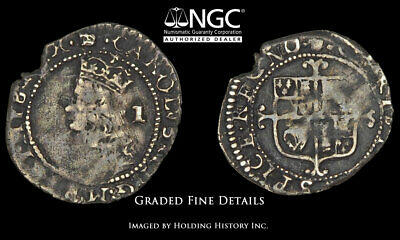 ENGLAND. Charles II, 1660-1685, Silver Penny, S-3327, NGC Fine Details