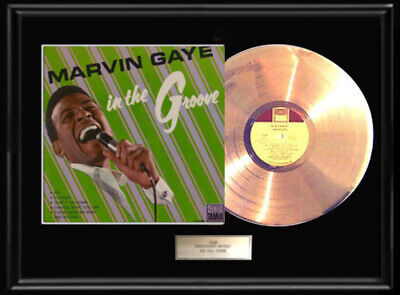 Marvin Gaye In The Groove Framed Lp Gold Metalized Record Vinyl Album Non Riaa