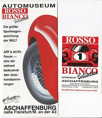 Rosso Bianco Collection Flyer  8 S. + Aufkleber Anfang 90er