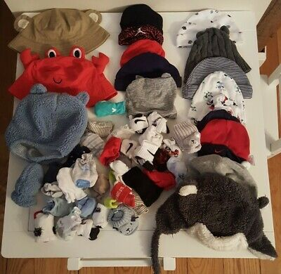 Baby Boy infant Hats, Mittens, gloves Mixed LOT