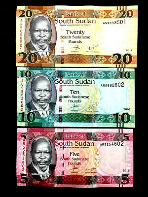 SOUTH SUDAN 100 Pounds Banknote World Paper Money UNC Currency Pick p15c 2017