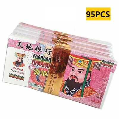 95 Pieces Chinese Joss Paper - Ancestor Money Heaven Bank Notes For Funerals