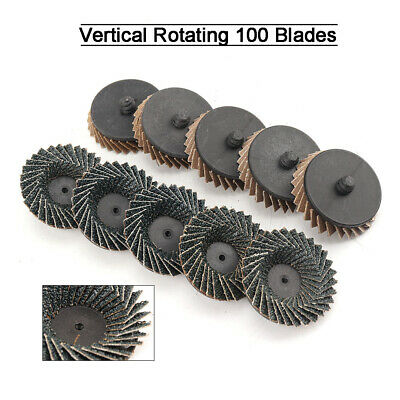 """10 Pcs 2"""" Type R Roll Lock Flap Sanding Wheel Disc 40 Grits For Rotary Tool Part"""