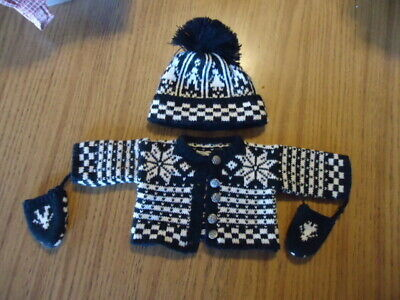 """American Girl 18/"""" Doll Kirsten Winter Woolens Sweater ONLY Retired AG"""