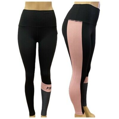 Victorias Secret PINK Ultimate Premium Yoga Sport Legging Logo Small Black