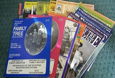 Collection of vintage 'Family Tree' Magazines