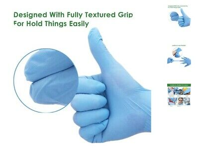 100 blue XL Nitrile gloves, latex vinyl and powder free medical grade PPE