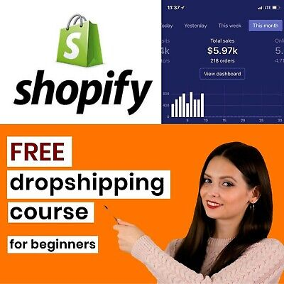 Free Dropshipping Course Revealed Offer Until 1st may I have signed up for free