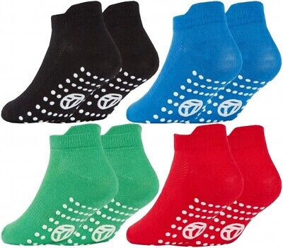Boys Trainer Liner Socks Non Slip Gripper Sole with Heel Protection 6-5