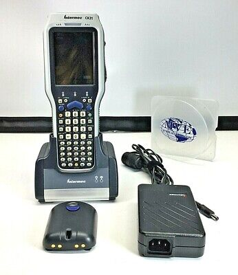 INTERMEC CK31 AD1 MOBILE BARCODE SCANNER W/ 2xBATTERY, CHARGER, AND ADAPTER