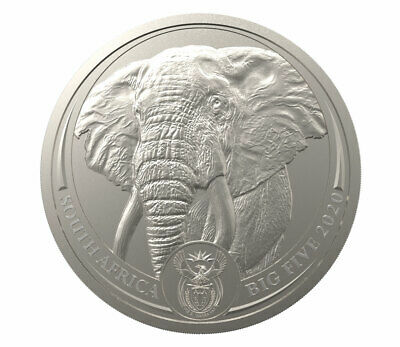 2020 South Africa The Big 5 Elephant 1 oz Platinum R20 Coin GEM BU SKU61276