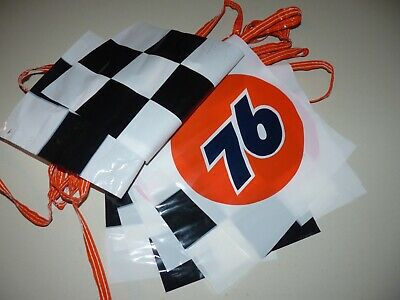 1980 Racing Checkered Flag Union 76 Gas Station Oil NASCAR Flags Man Cave Garage