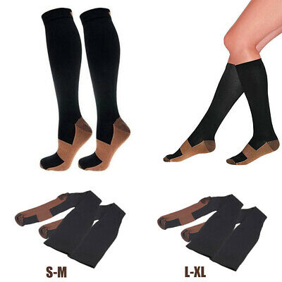 2pcs Compression Socks Anti Fatigue Unisex Travel DVT Comfort Stocking