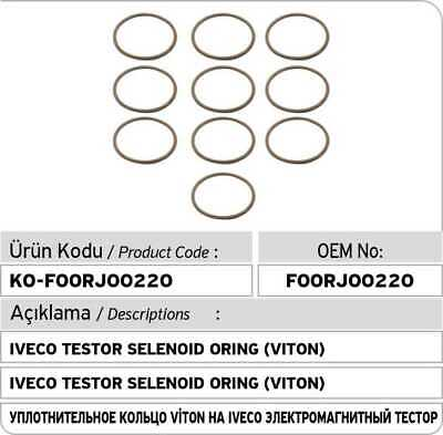 BOSCH x10 pcs Fuel Injector Rubber Seal O-Ring 1280210752