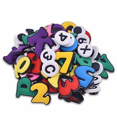 XHAOYEAHX 50,72,130pcs Croc Shoe Charms of Letters 72pcs Letters Numbers