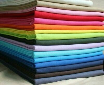 Plain Solid Cotton Fabric Quilting Sewing Craft Patchwork Cloth BY The Yard