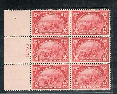 #615 Plate Block VF-XF OG NH Tiny Nat. Gum Skip (JH 4/15/2020)