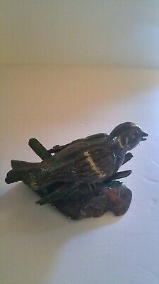 Nice Hand Carved Wood Bird (signed)