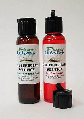 Water Purification Solution - Chlorite and Citric Acid, 2 oz KIT