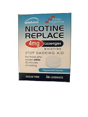 Nicotine Replace Lozenges 4mg (36 Pack) Galpharm Peppermint Flavour Exp 09/20