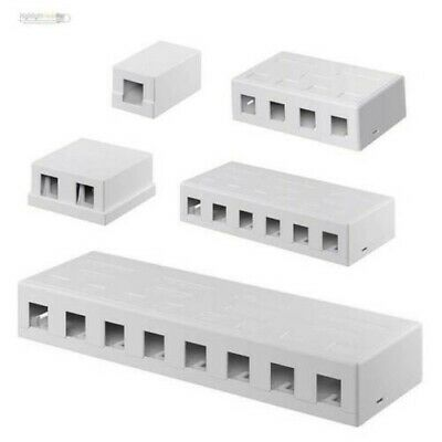 Keystone Modular Empty Box, UTP, Surface Mount, White, for Snap - IN