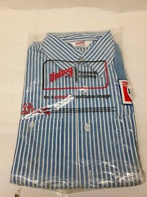 Vintage Pepsi Employee Delivery Driver Stripe Work Shirt NOS 15-15 1/2 long