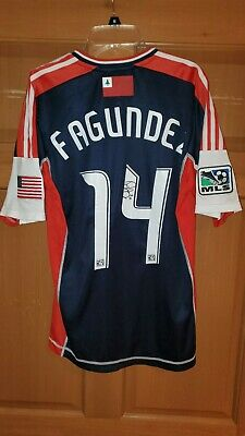 Diego Fagundez 2012 New England Revolution Game Used / Match Worn Signed MLS...