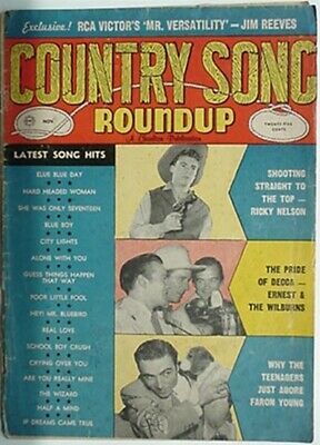 1958 Country Song Roundup Magazine (Ricky Nelson, Faron Young, Wilburns Cvr