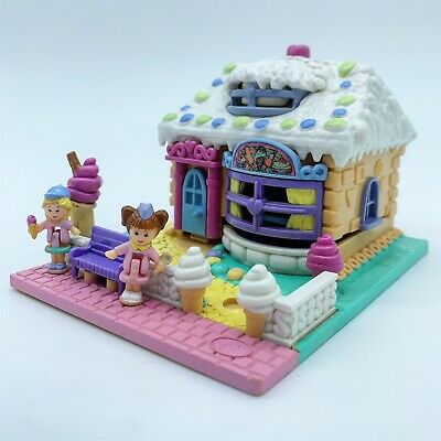 100% Complete Polly Pocket Ice Cream Parlour 1995 (rare Vanilla Roof) - Scented