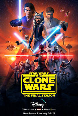 G479 Star Wars The Clone Wars Classic Movie Poster Art Decor