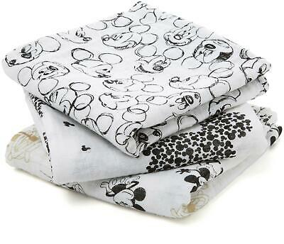 Aden + Anais CLASSIC MUSY - 3 PACK - MICKEY'S 90TH Baby Burp Cloth BN