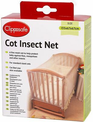 Clippasafe Cot Insect Net Mesh Baby Child Kids Nursery Home Safety Proofing -BN