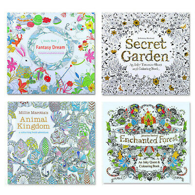 Drawing Artist Colouring Book w/ 12 Pencils Set Kids Anti-Stress Therapy Relief
