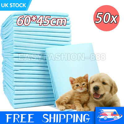 50x Puppy Pads Dog Pet ToiletHouse Training Wee Potty Pee Mats Cat Poo XL Pad UK