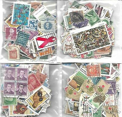 Lot #C  *1 OUNCES  U.S  USED STAMPS OFF PAPER MIXTURE