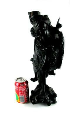 Large Chinese Root Wood Carved Figure Lamp Base  42 cm High