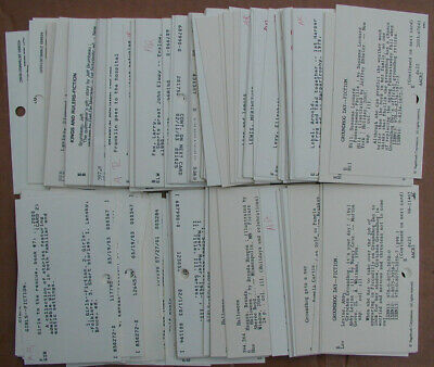 """Vintage School Library Catalog Cards Unique Craft Altered Art 3/"""" x 5/"""" lot of 50"""