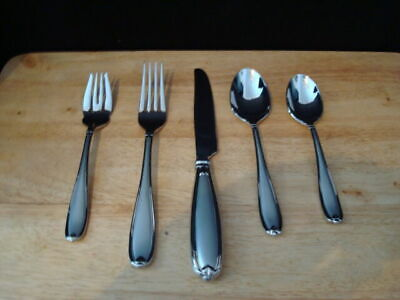 Princess House Barrington  Stainless Steel 5 Piece Place Setting