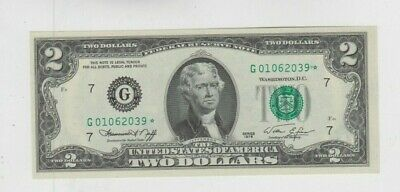 Federal Reserve note $2 1976 Chicago Star choice uncirculated