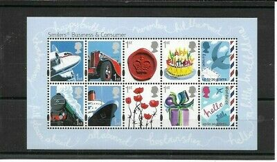 GB 2010 Business & Consumer Smilers Mini-sheet - SG 3024 - u/m
