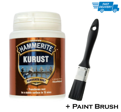 Hammerite Kurust Rust Killer Rust Treatment No Undercoat Required & Paint Brush