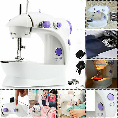 Electric Portable Mini Sewing Stitch Machine Adjustable 2 Speed Foot Pedal W/LED