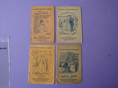 Lot of 4 Dr. Kohler's Reliable Preparations Ad Booklet Medicine Medical Quakery