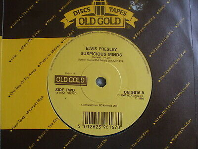 Elvis Presley - Suspicious MInds / In The Ghetto - OLD GOLD 9616  - EX-