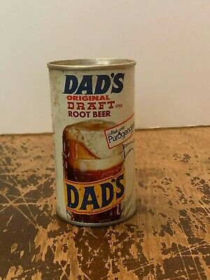 Vintage Dad's Original Draft Root Beer 12 Ounce Tin Soda Can