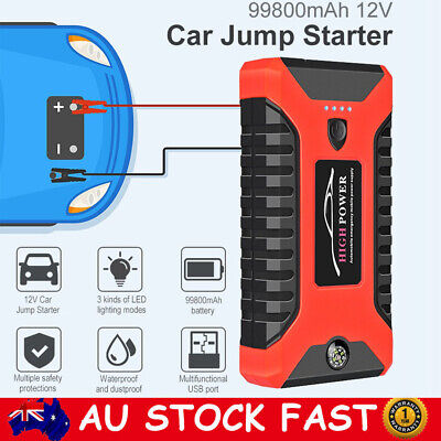 99800mAh 12V Car Jump Starter Pack Booster Charger Battery Power Bank Compass AU