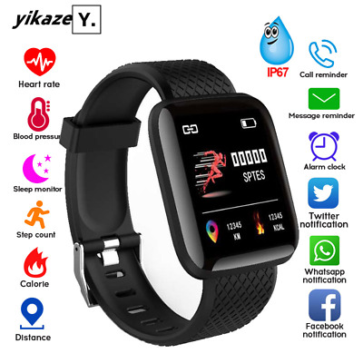 Smart Watch Fitness Tracker Fitbit Bluetooth Step Calorie Sport Android iPhone